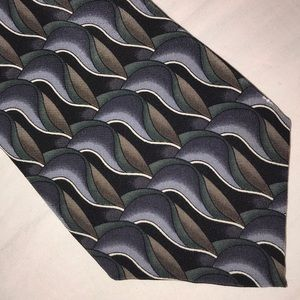 Cocktail Collection Neck Tie Grays Green Black
